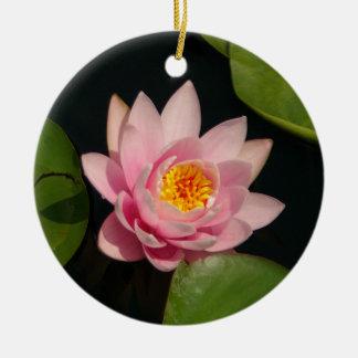 Rosa Lotos-Wasserlilie-Blumen Keramik Ornament