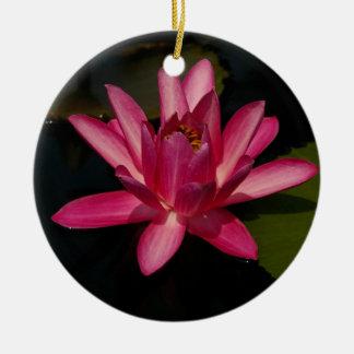 Rosa Lotos-Wasserlilie-Blumen-Verzierung Keramik Ornament