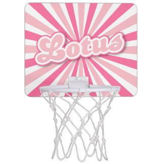 Rosa Lotus Mini Basketball Ring