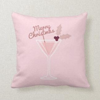 Rosa Martini-Weihnachten Kissen