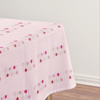 Rosa mattierter tischdecke