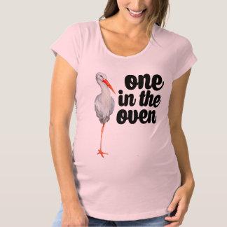 Rosa Mutterschaftsder storch-Hemd der Frauen Umstands-T-Shirt