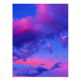 Rosa Neonsonnenuntergang Postkarte