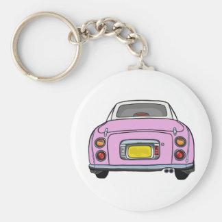 Rosa Nissan Figaro Keychain Schlüsselanhänger