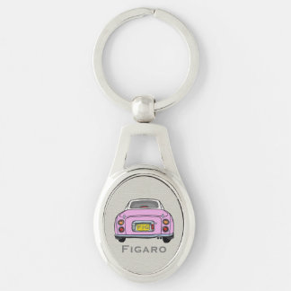 Rosa Nissan Figarokundenspezifischer ovaler Schlüsselanhänger