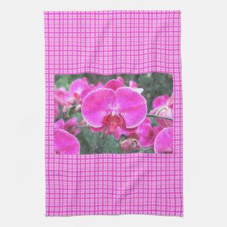 Rosa Orchideen-Blume, Blumenphotographie Handtücher
