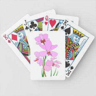 Rosa Orchideen-Blumen Spielkarten
