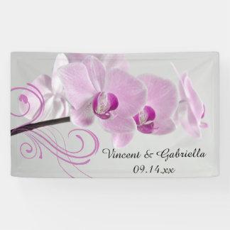 Rosa Orchideen-Eleganz-Hochzeit Banner