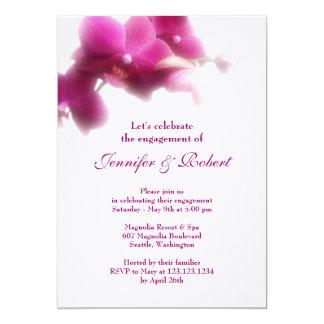 Rosa Orchideen-Verlobungs-Einladung 12,7 X 17,8 Cm Einladungskarte
