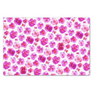 Rosa Pansy Watercolor-Blumenkunst-Seidenpapier Seidenpapier