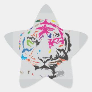 Rosa Panther-Verrücktheit Sternaufkleber
