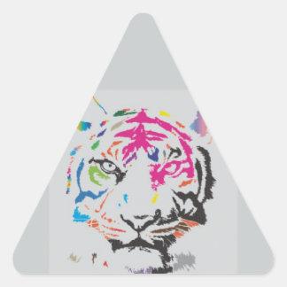 Rosa Panther-Verrücktheit Dreieckiger Aufkleber