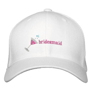 Rosa personalisierter gestickter Hut Martinis Bestickte Baseballmützen