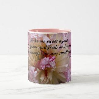 Rosa Pfingstrose… machen mich Bonbon wieder Zweifarbige Tasse
