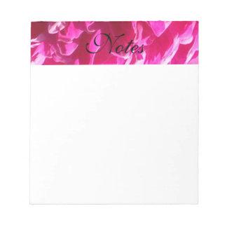 Rosa Pfingstrosen-Blume Notizblock