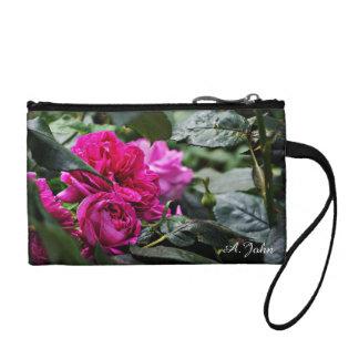 Rosa Pfingstrosen-Blume Wristlet