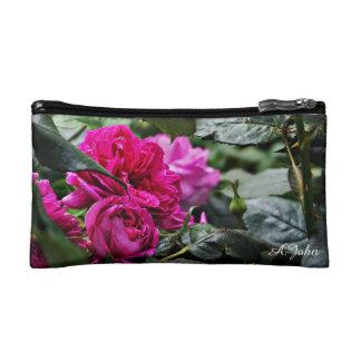Rosa Pfingstrosen-Blumenkosmetiktasche Kosmetiktasche