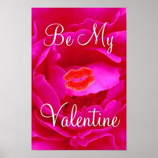 Rosa Plakat Rosevalentine-I