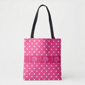 Rosa-Polka Punkt-Hoch entwickelt-Handtasche-Tasche
