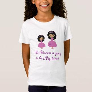 Rosa Prinzessin große Schwester - dunkle Haut T-Shirt