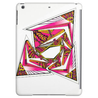 Rosa psychedelischer Entwurf auf iPad