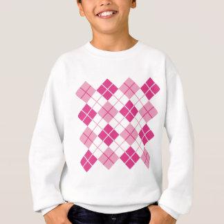 Rosa Rauten-Muster Sweatshirt