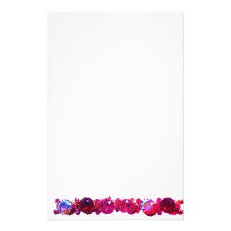 Rosa Rhinestones - Vintager Schmuck Briefpapier