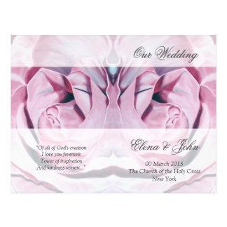 Rosa Rosen, die Programm-Briefpapier Wedding sind Flyer