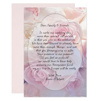 Rosa Rosen, die wohle Benennungs-Hochzeits-Karten Karte
