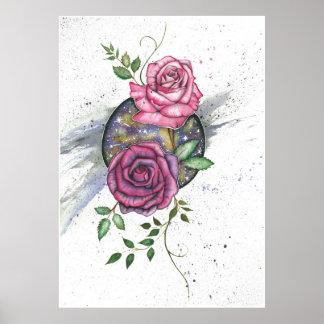 Rosa Rosen im Raum, Plakat