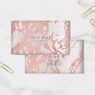 Rosa Rosen-Kupfer-Marmorvip-Verabredungs-Silber Visitenkarte