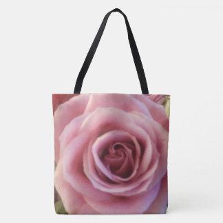 Rosa Rosen-nahe hohe Druck-Taschen-Tasche