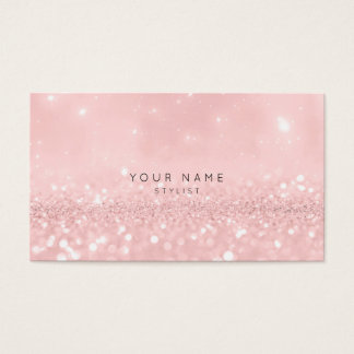 Rosa Rosen-Pulver-Glitter-funkelnd Stylist Vip Visitenkarten