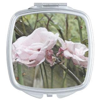 Rosa Rosen-Spiegel Schminkspiegel
