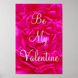 Rosa Rosevalentine-Plakat - kundengerecht