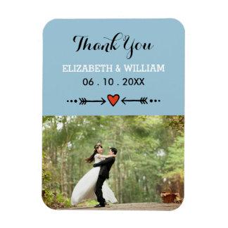 Rosa Schatze u. Pfeil-blaue Hochzeit danken Ihnen Magnete