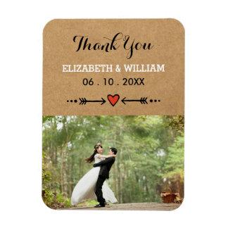 Rosa Schatze u. Pfeil-rustikale Hochzeit danken Flexibler Magnet