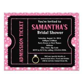 Rosa schwarze Brautparty-Karten-Einladung 10,8 X 14 Cm Einladungskarte