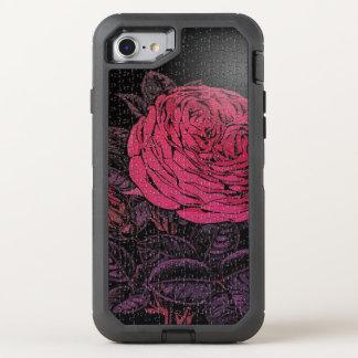Rosa schwarze Puzzlespiel-Rose OtterBox Defender iPhone 8/7 Hülle