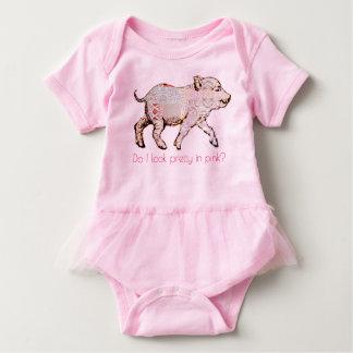 Rosa Schwein und Schmetterlinge Baby Strampler