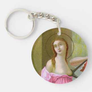 Rosa Single-Bild-St. Agatha (M 003) Schlüsselanhänger