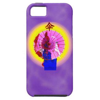Rosa Sonnenschirm-Telefonkasten Tough iPhone 5 Hülle