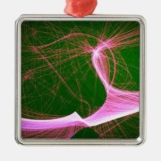rosa Spaß spunky Silbernes Ornament