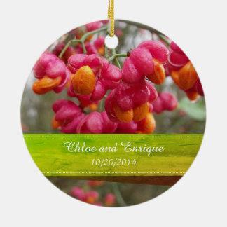 Rosa Spindel-Frucht-Blumen, die Verzierung Wedding Rundes Keramik Ornament