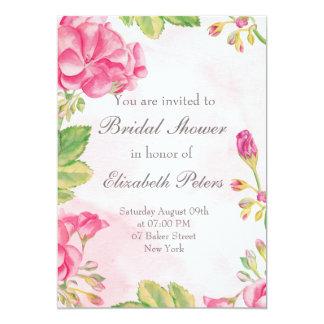 Rosa Summerflowers Brautparty-Einladung Karte