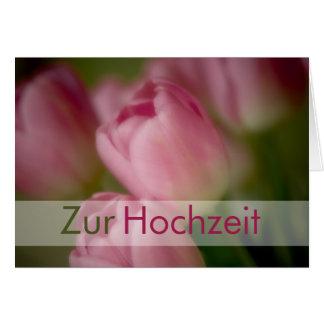 Rosa Tulpen • Glueckwunschkarte Hochzeit Karte