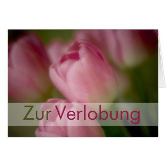 Rosa Tulpen • Glueckwunschkarte Verlobung Karte