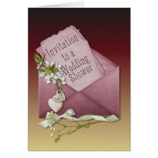 Rosa Umschlag-Polterabend Grußkarte