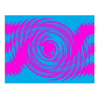 Rosa und blaue Kräuselungs-Postkarte Postkarte