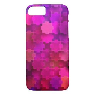 Rosa und blaues quadratisches Puzzlespiel bessert iPhone 8/7 Hülle